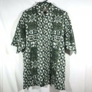 Hobie Men's Shirt Hawaiian Large Green
